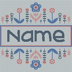 Personalized Name (Border) Square Word Chart