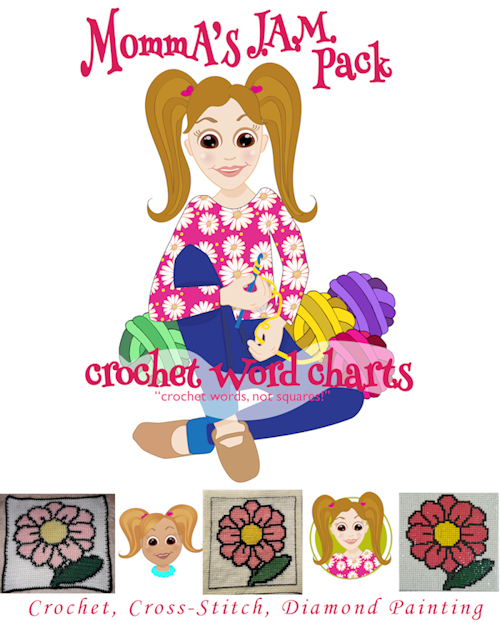 Momma's J.A.M. Pack Crochet Word Charts