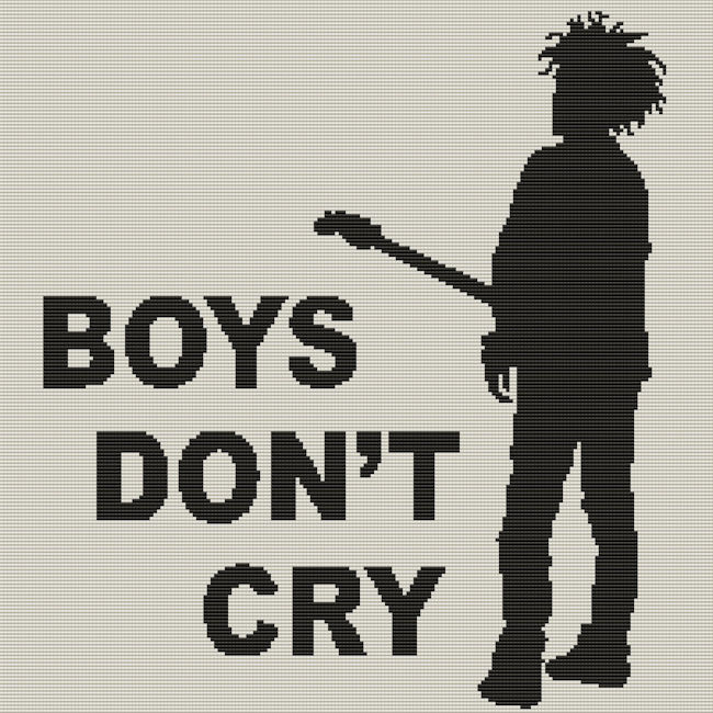 Boys Don't Cry Square Word Chart