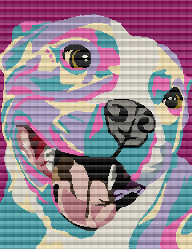 American Pit Bull Pink Camo Full Word Chart