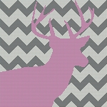 Chevron Baby Deer Word Chart