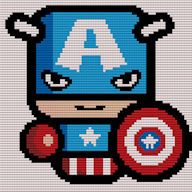 (Captain America) Simples Diamond Painting-Cross Stitch 2-1 Format