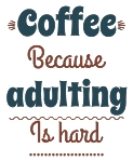 Coffee Adulting Font Only