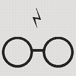Harry Potter Glasses Square Word Chart