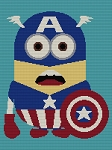 Captain America Minion Hero Standard Word Chart