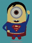 Superman Minion Hero Standard Word Chart