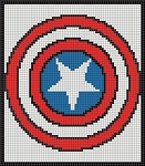Captain America #2  70x80 Pillow Panel Word Chart