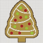 Gingerbread Tree Pillow Word Chart  --2015OND