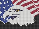 Bald Eagle Flag Standard Art Word Chart