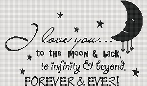 Forever and Ever Moon Ext Twin Word Chart