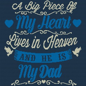 My Heart Misses Dad Diamond Painting-Cross Stitch 2-1 Format