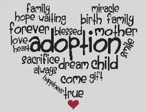 Adoption Heart Words Full Word Chart