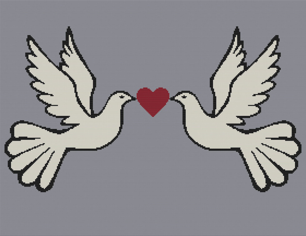 2 Doves Love Full Word Chart